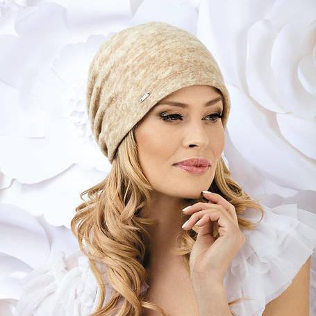 Жіноча модна шапка Rafi Willi з вовняного трикотажу, фото 2