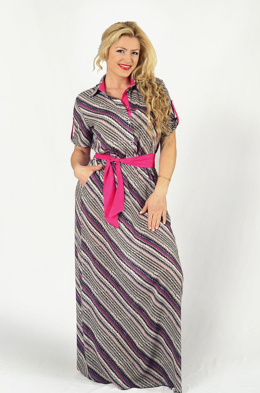 Женское платье рубашка (42-60)8119