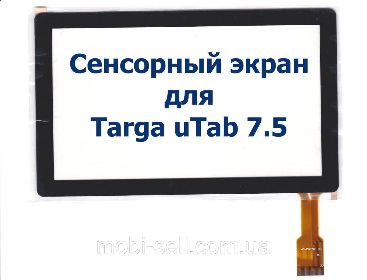 Сенсорный экран тачскрин сенсор для Targa uTab 7.5