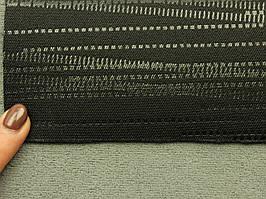 Автоткань для сидений, для центральной части, цвет черный , на поролоне (сетка), Польша