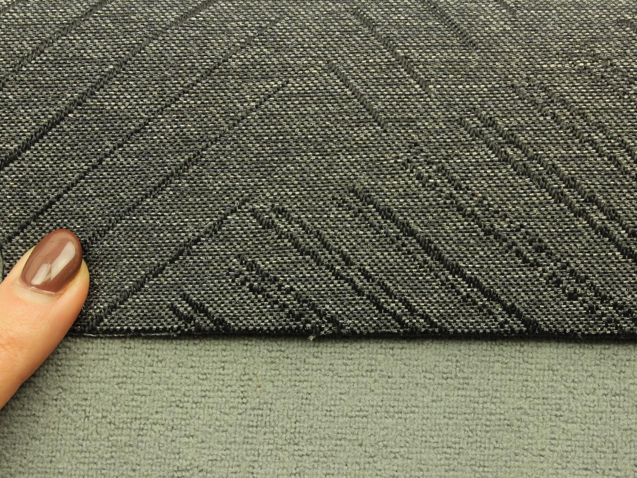 Автоткань для сидений, для центральной части, цвет графит, на поролоне (сетка), Польша