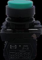 Выключатель кнопочный ВК011-НЦВЗ (выступающая зелёная кнопка без фиксации) 1NO