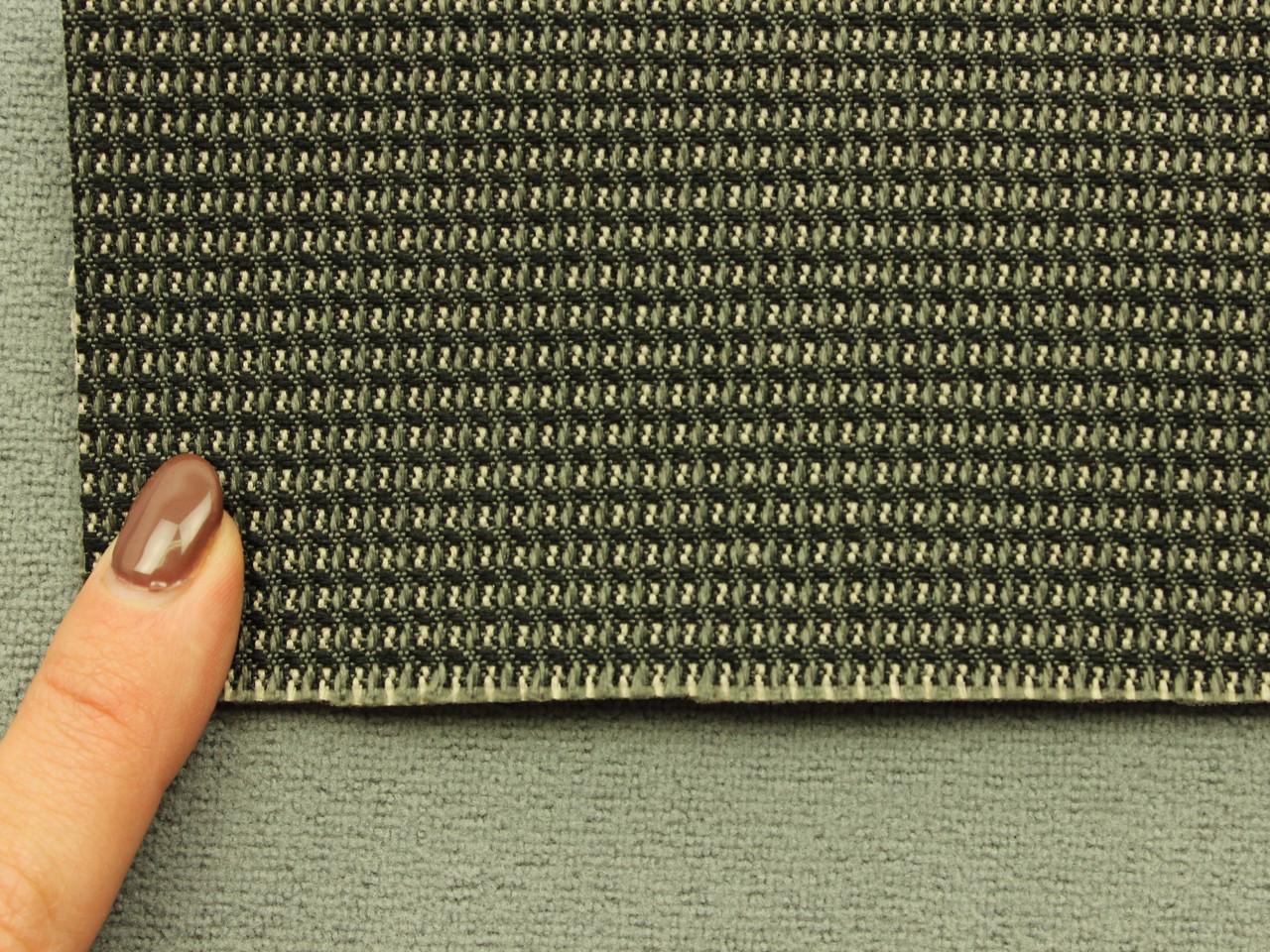 Автоткань для сидений, для центральной части, цвет серый, на поролоне (сетка), Польша