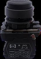 Выключатель кнопочный ВК011-НЦВЧ (выступающая чёрная кнопка без фиксации) 1NO