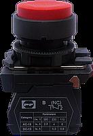 Выключатель кнопочный ВК011-НЦВК (выступающая красная кнопка без фиксации) 1NС