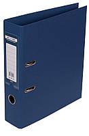 Папка-реєстратор А4 70мм BUROMAX 3001-03 ELITE двостороння темно-синя, фото 1
