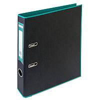 Папка-реєстратор А4 50мм BUROMAX 3006-06 STYLE двостороння бірюзова/чорна, фото 1