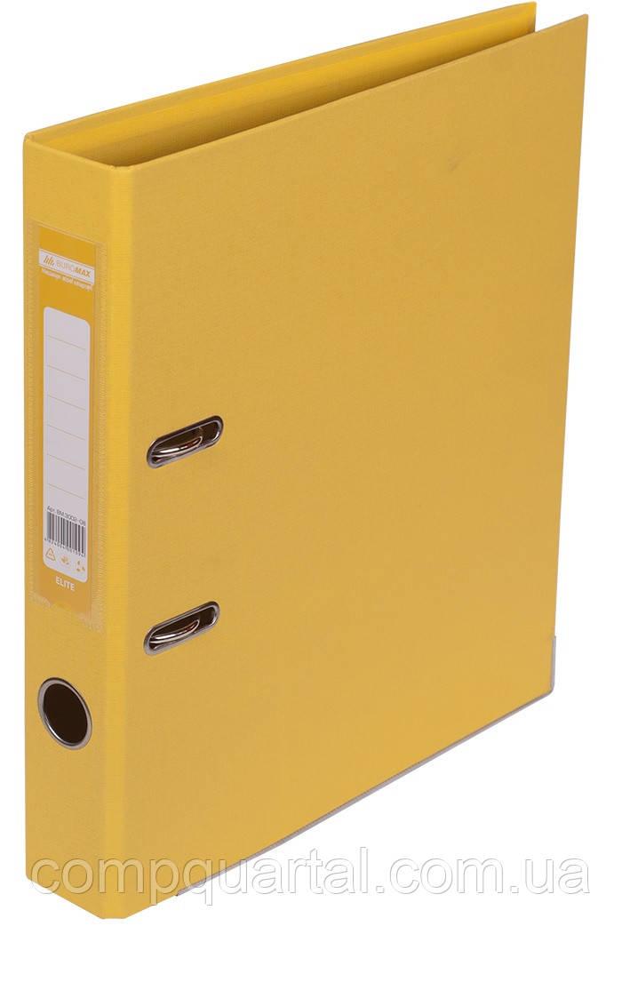 Папка-реєстратор А4 50мм BUROMAX 3002-08 ELITE двостороння жовта