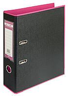 Папка-реєстратор А4 70мм BUROMAX 3005-10 STYLE двостороння рожева/чорна