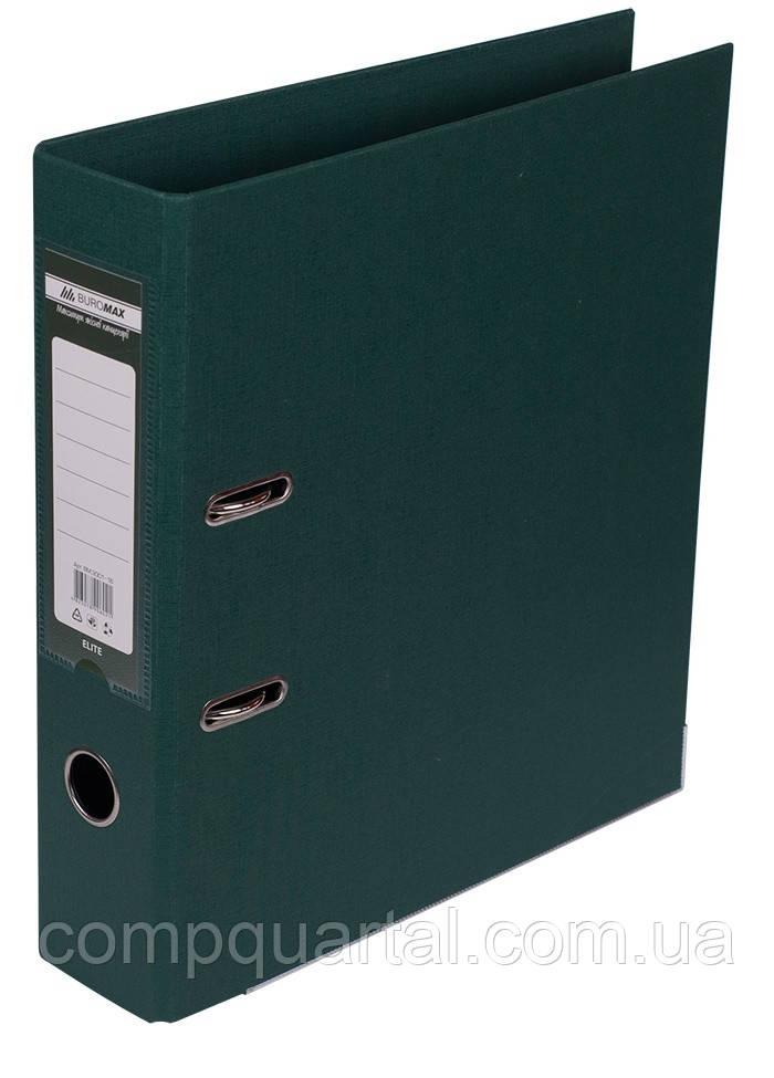 Папка-реєстратор А4 70мм BUROMAX 3001-16 ELITE двостороння темно-зелена