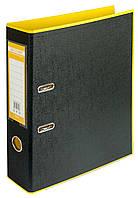 Папка-реєстратор А4 70мм BUROMAX 3005-08 STYLE двостороння жовта/чорна