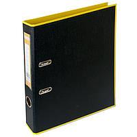 Папка-реєстратор А4 50мм BUROMAX 3006-08 STYLE двостороння жовта/чорна, фото 1