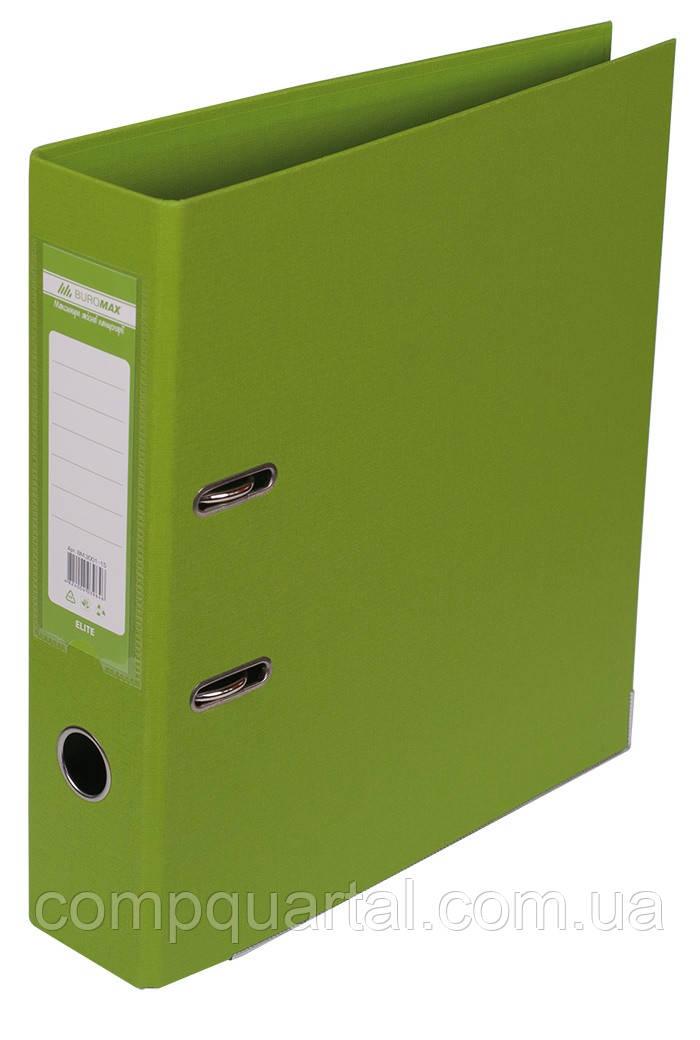 Папка-реєстратор А4 70мм BUROMAX 3001-15 ELITE двостороння світло-зелена
