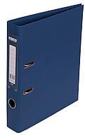 Папка-реєстратор А4 50мм BUROMAX 3002-03 ELITE двостороння темно-синя