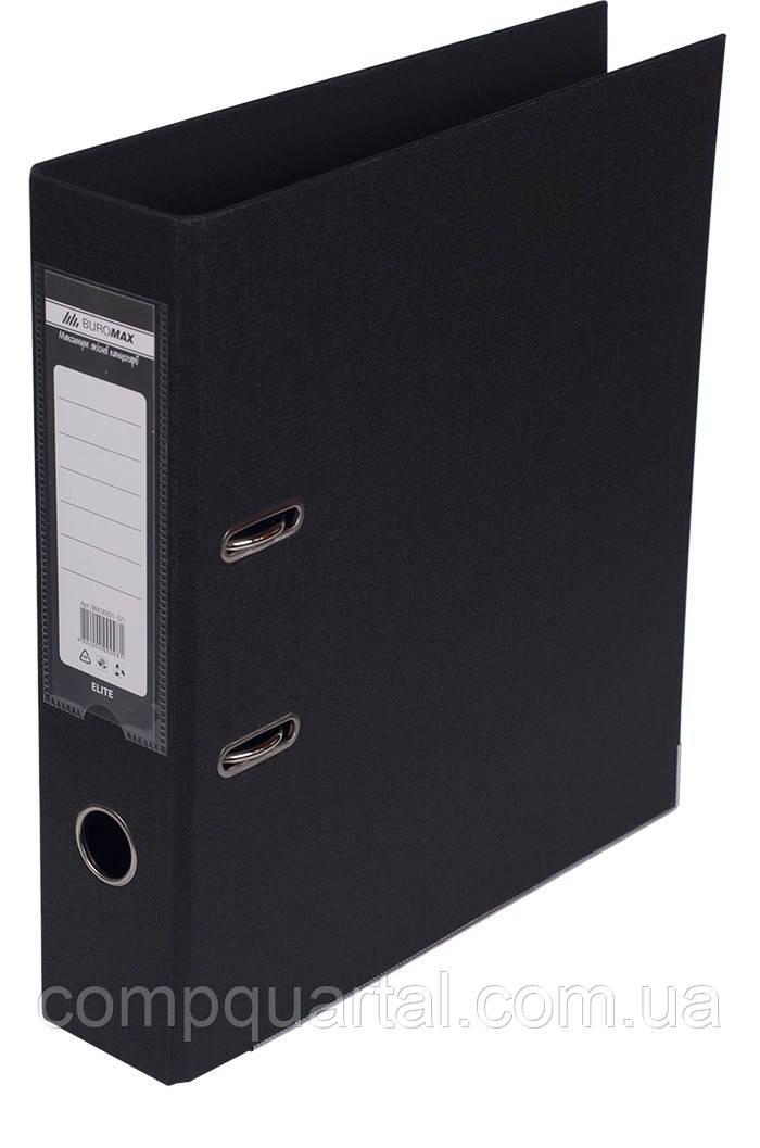 Папка-реєстратор А4 70мм BUROMAX 3001-01 ELITE двостороння чорна