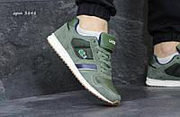Мужские кроссовки lacoste зеленые (Реплика ААА+)