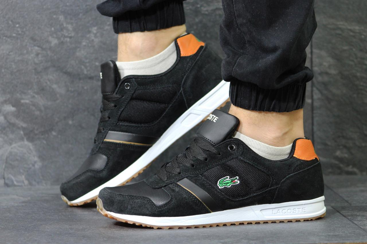 Мужские кроссовки lacoste черные (Реплика ААА+) - купить по лучшей ... 9980cf56149