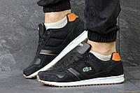 Мужские кроссовки lacoste черные (Реплика ААА+)