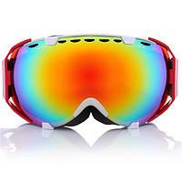 Лыжные очки сноуборде профессиональный анти туман уф двойной линзы розовый мотоцикл безопасность очки