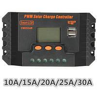 LCD 10/15/20/25 / 30a 12v / 24v регулятора PWM панели солнечных батарей Контроллер заряда