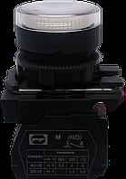Выключатель кнопочный ВК011-НЦВИЛБ (выступающая белая кнопка LED без фиксации) 1NО