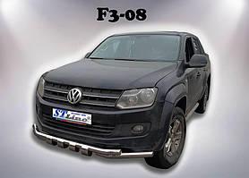 Защита переднего бампера Volkswagen Amarok (2010+) ST-Line