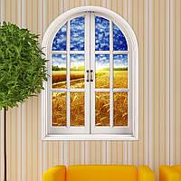 Кукурузного поля зрения вол 3d искусственного стекла наклейки 3d наклейки для стен комната стены дома подарок декора
