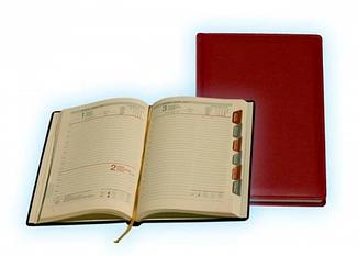 Ежедневник А5 датированный крем с регистрами Cowhide/Vintage
