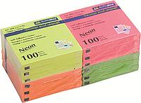 Папір для нотаток з клейкою смужкою BUROMAX 2312-98 76Х76мм 100 аркушів Неоновий