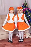 Детский карнавальный костюм для девочки Белочка, детские новогодние костюмы оптом
