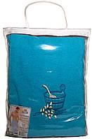 Парео (килт, юбка) для бани и сауны мужское морская волна, Ярослав