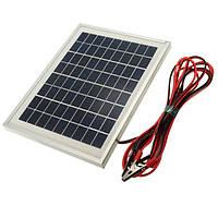 12v 5w 25.5 х 19 х 1.5 см поликристаллических клетки панели солнечных батарей с аллигатора зажимом провода