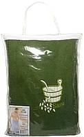 Парео (килт, юбка) для бани и сауны мужское оливка, Ярослав