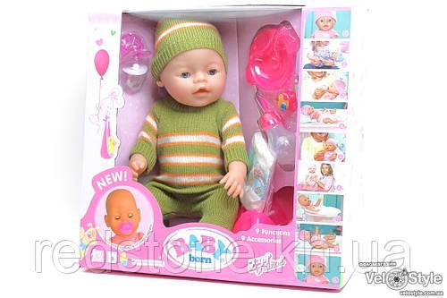 Пупс Baby Born Беби Борн с аксессуарами (плачет,кушает,пьёт,ходит на горшок...)