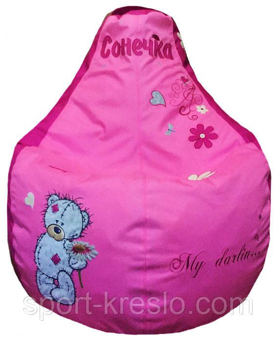 Детское Кресло бескаркасное мешок-пуф груша мишка Тедди