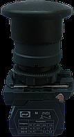 """Выключатель кнопочный ВК011-НГрЧ (чёрноя кнопка """"грибок"""" без фиксации) 1NО"""