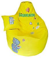 Детское кресло мешок бескаркасный пуфик груша мишка Тедди