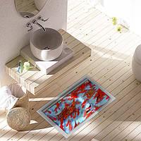 Паг 3d водонепроницаемый пруд Золотая рыбка шаблон ванная Антипробуксовочная этаж наклейка стирать душ декор комнаты