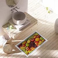 Паг 3d Антипробуксовочная водонепроницаемый фрукты шаблон пол в ванной комнате душевая кабина наклейка стирать декор комнаты