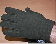 Флисовые перчатки зимние MFH олива с утеплителем Thinsulate размер M-XL, фото 1