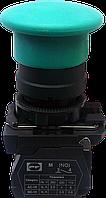 """Выключатель кнопочный ВК011-НГрЗ (зелёная кнопка """"грибок"""" без фиксации) 1NО"""