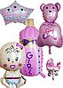 Набор фольгированных шаров на выписку девочки
