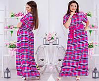 Женское платье рубашка (50-60) 8119.1