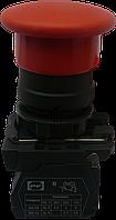 """Выключатель кнопочный ВК011-НГрК (красная кнопка """"грибок"""" без фиксации) 1NС"""