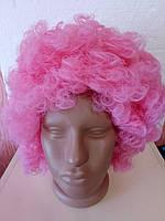 Перука клоуна рожева