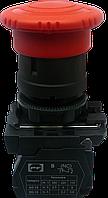 """Выключатель кнопочный ВК011-КГрК (красная кнопка """"грибок"""" с фиксацией) 1NС"""