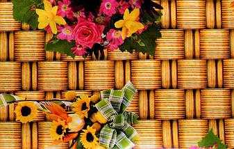 Клеёнка силиконовая с цветами на кухонный стол, фото 2