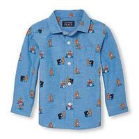 Хлопковая рубашка на мальчика 18-24 мес США