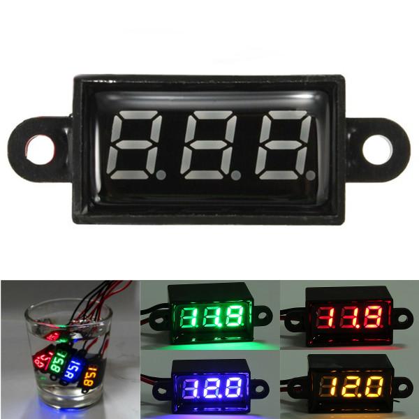 Водонепроницаемые 0.28 дюйма dc 3.5-30v мини-цифровой LED вольтметр для 12v автомобиль Moto 1TopShop