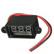 Водонепроницаемые 0.28 дюйма dc 3.5-30v мини-цифровой LED вольтметр для 12v автомобиль Moto 1TopShop, фото 3